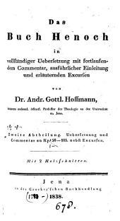 Das Buch Henoch [Aethiopic book] in vollständiger Uebers. mit fortlaufendem Comm., ausführlicher Einleitung und erläuternden Excursen von A. G. Hoffmann