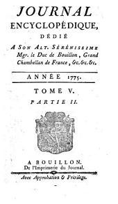 Journal encyclopédique: Volume5,Partie2