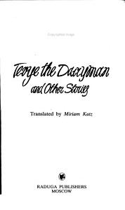 Tevye the Dairyman and Other Stories PDF