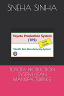 Toyota Production System  Lean Manufacturing  PDF