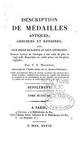Description de medailles antiques, etc: Supplement, Volume8