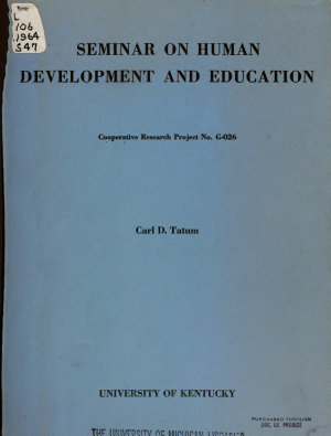 Seminar on Human Development and Education PDF