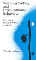 Work Psychology and Organizational Behaviour PDF