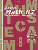 Test Masters for Saxon Math 87