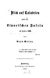 Blick auf Calabrien und die Liparischen Inseln im Jahre 1860