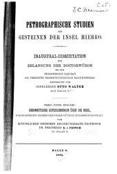 Petrographische Studien an Gesteinen der Insel Hierro ...