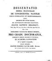Dissertatio medica inauguralis De congruentia naturae virus syphilliticy et blennorrhagici ...