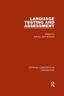 Language Testing and Assessment PDF