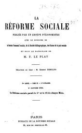 La Réforme sociale: Volume3