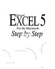 Microsoft Excel 5 for the Macintosh Step by Step PDF