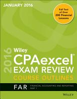 Wiley CPAexcel Exam Review January 2016 Course Outline PDF
