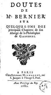 Doutes sur quelques-uns des ... chapitres de son abrégé de la philosophie de Gassendi