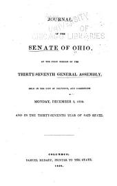 Journal of the Senate of the State of Ohio: Volume 37