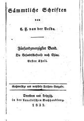 Sämmtliche Schriften: Bände 25-27