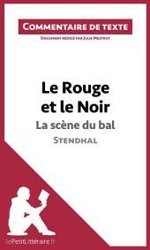Le Rouge et le Noir de Stendhal - La scène du bal: Commentaire de texte
