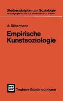 Empirische Kunstsoziologie PDF