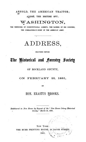 Arnold  the American Traitor
