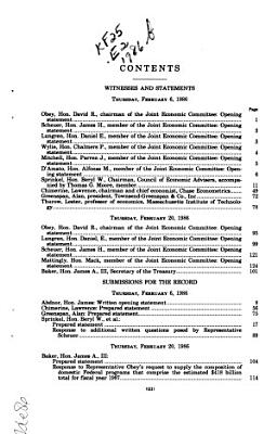 The 1986 Economic Report of the President PDF