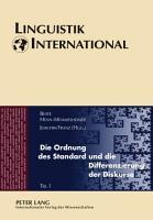 Die Ordnung des Standard und die Differenzierung der Diskurse PDF