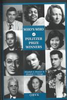 Who s who of Pulitzer Prize Winners PDF