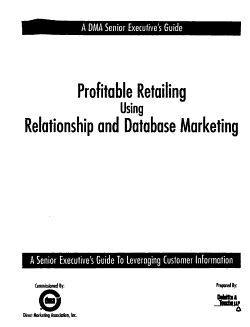 Profitable Retailing Using Relationship and Database Marketing PDF