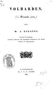 Volharden: (11 november 1832)