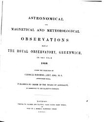 Astronomical and Magnetical and Meteorological Observations Made at the Royal Observatory  Greenwich  in the Year     PDF