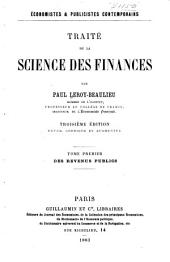 Traité de la science des finances: Volume 1