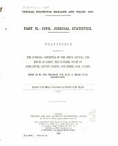 Judicial Statistics, England and Wales: Part 2