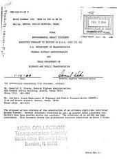 TX-190 Construction, I-35E to TX-78, Dallas/Denton/Catlin Counties: Environmental Impact Statement