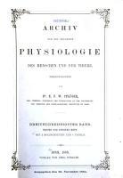 Pfl  ger s Archiv f  r die gesamte Physiologie des Menschen und der Tiere PDF