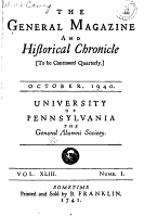 General Magazine and Historical Chronicle PDF