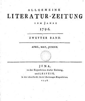 Allgemeine Literatur Zeitung vom Jahre Zweyter Band April May Junius  PDF