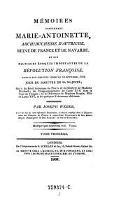 Memoires concernant Marie-Antoinette