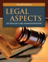 Legal Aspects of Health Care Administration PDF