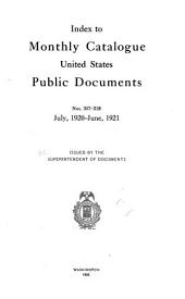 Monthly catalogue, United States public documents: Issues 307-318