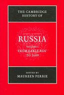 The Cambridge History of Russia PDF