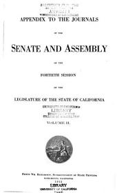 Journal of the Senate and Assembly During the ... Session of the Legislature of the State of California: Volume 2