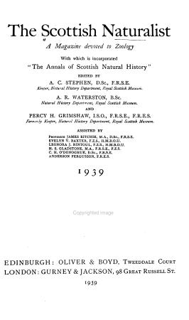 The Scottish Naturalist PDF
