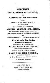 Specimen obstetricium inaugurale, de partu clunibus praeviis: Volume 1