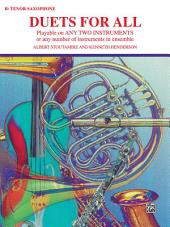 Duets for All: For Tenor Saxophone