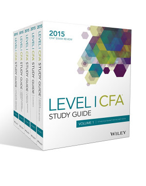 Wiley Study Guide for 2015 Level I CFA Exam  Complete Set