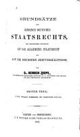 Grunds  tze des gemeinen deutschen Staatsrechts PDF