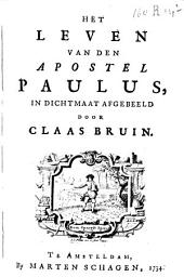 Het leven van den apostel Paulus: in dichtmaat afgebeeld
