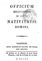 Officium recitandum in nocte Nativitatis Domini