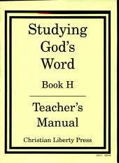 Studying God's Word: Book H