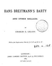 Hans Breitmann's Barty: Volume 1