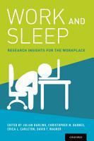 Work and Sleep PDF