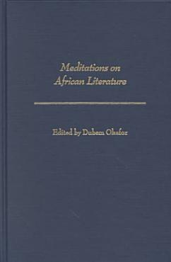 Meditations on African Literature PDF