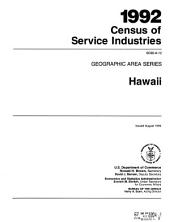 1992 Census of Service Industries: Geographic area series. (52 pt.)